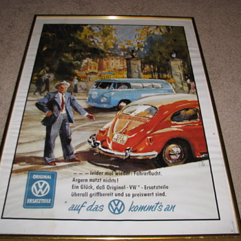 Vintage VW Poster