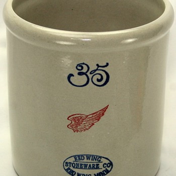 Limited Edition Red Wing Pottery 35 Gallon Crock Replica - Art Pottery