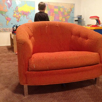 Love this orange chair - Mid-Century Modern