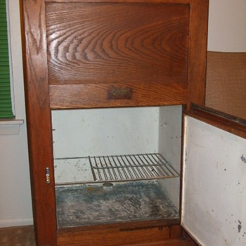 1930s Wood Ice Box