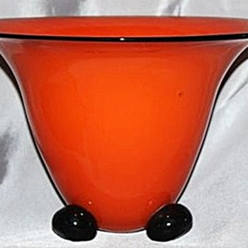 More Rückl Tango Pieces - Red Bowl & Orange Tiered Vase