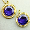 Antique Colour Changing Alexandrite Seed Pearl 15kt Pendant Pair