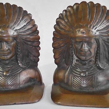 North American Indian Bookends