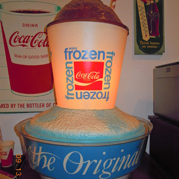 1970's Frozen Coca-Cola Plastic Light-Up Rotating Display