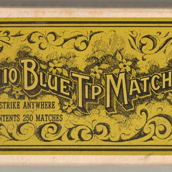 1960's - Ohio Blue Tip Matches - Box - Tobacciana
