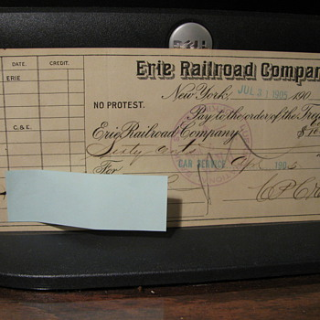 4 more 1905 checks - Railroadiana