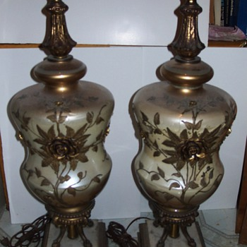 Glass & Brass Lamps - Lamps