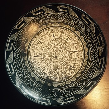 Aztec carved bowl