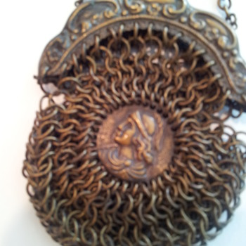 Antique mesh purse