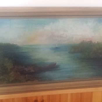 sailboat oil painting  - Visual Art