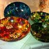 Floral melamine bowls