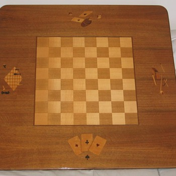 Maquetry Game Table