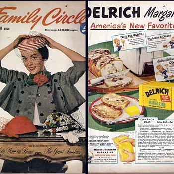 Family Circle Magazine covers 1948 1950 1951  - Advertising