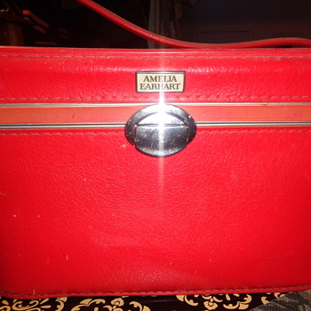 Candy Apple Red Makeup Train Case by Amelia Earhart Luggage