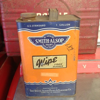 Smith-Alsop Liquid Cleaner Can - Petroliana