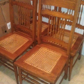Antique Oak Side Chairs - Furniture
