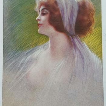 1915 lady portrait post card.