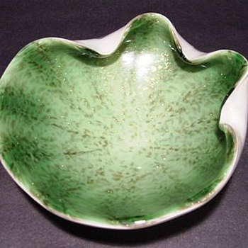 Watermelon Anyone???  Murano Art Glass Bowl - Art Glass
