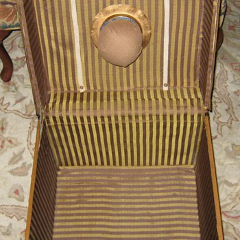 Interior Of Antique French Hat Trunk - Furniture