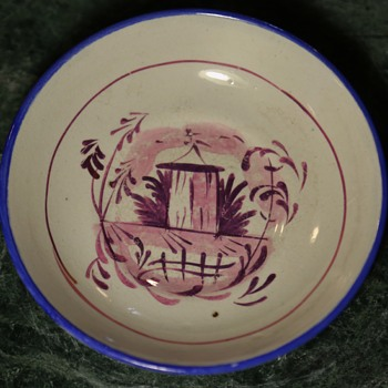 Small Plate with Purple/Pink Lustre Decoration