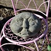Blob-face Garden Sculpture