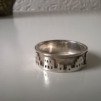 Cityscape Sterling Silver Ring