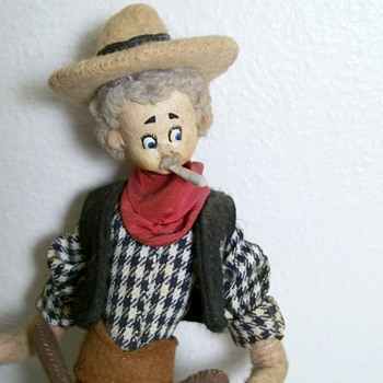 Vintage Cowboy doll smoking  By Nistis in Barcelona Spain - Dolls