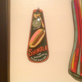Shinola shoe horn circa 1910, pat. date is 1905 - Advertising