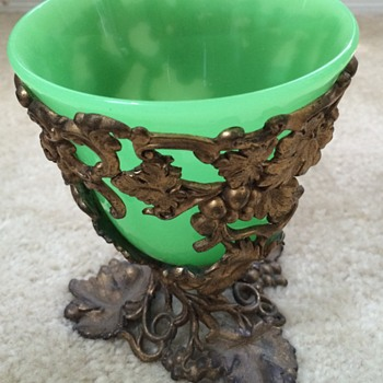 Green Opaline Bronze Mounted Vase