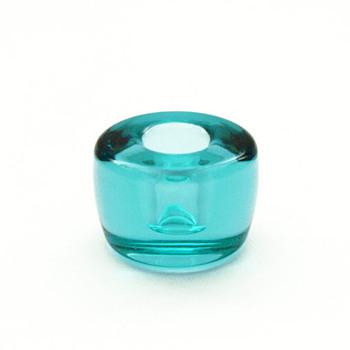 Laguneblaa small candleholder, Per Lütken (Holmegaard, 1960) - Art Glass