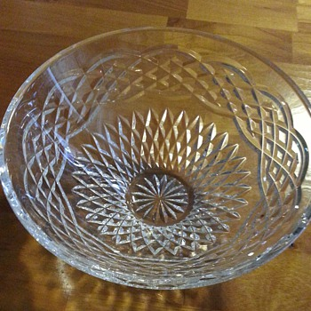 I found this beautiful Waterford Bowl for $2.00 - Glassware