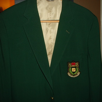 "GREEN GOLF CHAMPIONSHIP JACKET ""7UP""  WHAT, WHERE AND WHEN? - Mens Clothing"