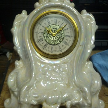 Made in germany, narco, pocelain clock