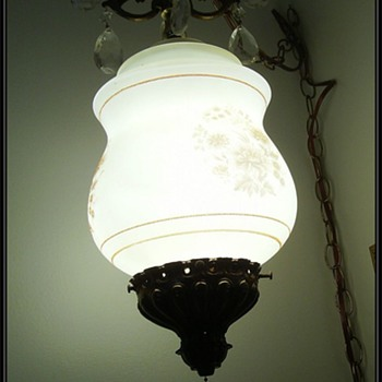 Vintage Chandlier Hanging Lamp/Light/Swag