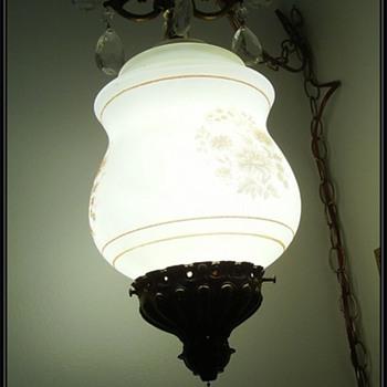 Vintage Chandlier Hanging Lamp/Light/Swag - Lamps