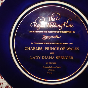 1981 The Royal Wedding Plate Charles & Diana - Advertising