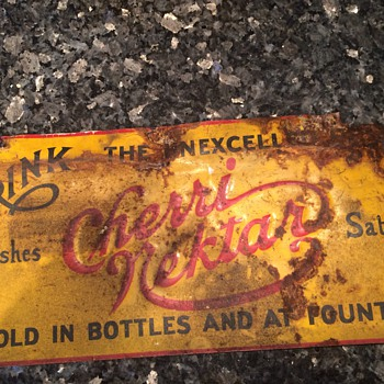 Vintage Sign Cherri Nektar - Advertising