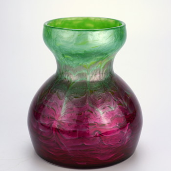 Loetz Flammarian Genre 2534 by Leopold Bauer prod. form 4214 circa 1906 - Art Glass
