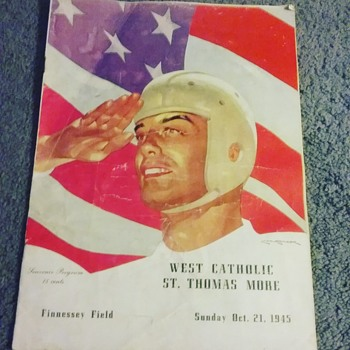 West Catholic (Burrs) vs.  St. Tommy More (Golden Bears) 1945 roster