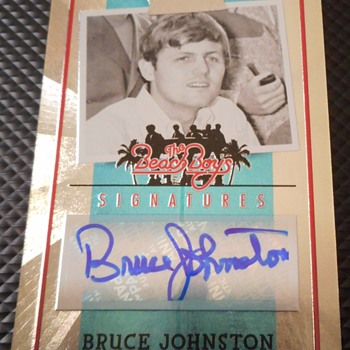 Beach Boys Autograph Card...Numbered to 70 - Music Memorabilia