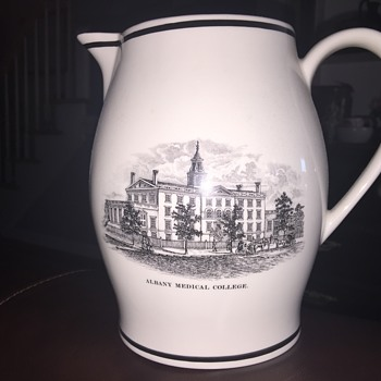 Wedgwood commemorative pitcher of Albany medical College - China and Dinnerware