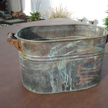 Old copper wash tub???