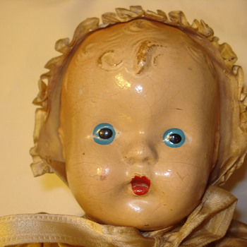 Unmarked Composition Baby Doll - Dolls