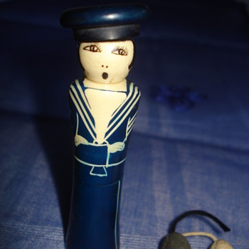 Woman sailor  perfume /cologne carry case about 1920, thanks Manikin - Dolls
