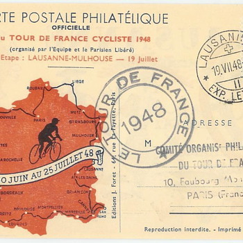 1948 Tour de France Post Card Set - Postcards