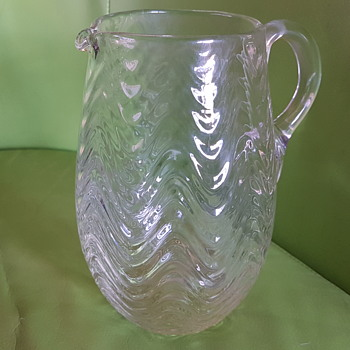 Swagger or wave patterned glass jug - Glassware
