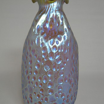 "Fabulous Loetz Candia Silberiris Diaspora ""Bag"" Vase ca. 1902 - Art Glass"