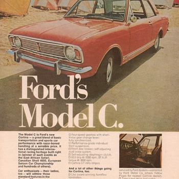 1967 Ford Cortina Advertisement - Advertising