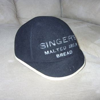 1930s singer malted milk bread employee hat