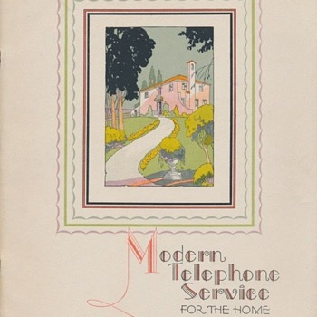 "Beautiful Art Deco 1928 ""Modern Telephone Service For The Home"" booklet - Advertising"